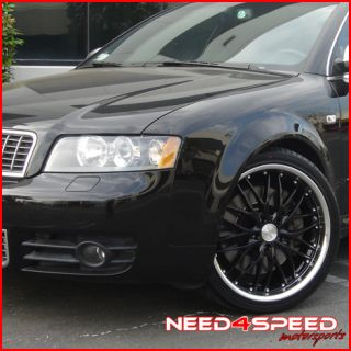 18 Audi A4 B7 MRR GT1 Black Staggered Wheels Rims