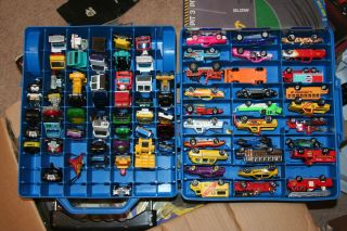 78 Toy Cars with Hot Wheels 100 Car Travel Case