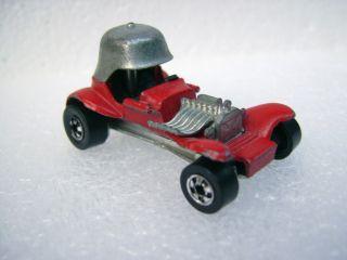 Vintage Hot Wheels 1969 Red Baron Black Wall Tires Hong Kong Mattel