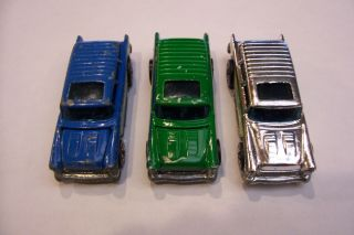 Hot Wheels Redline Collection Sale Alive 55 Lot of 3 Cars Blue Green