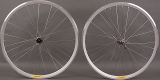 Ultegra 6700 36 Hole Velocity Deep V Silver Road Bike Wheels