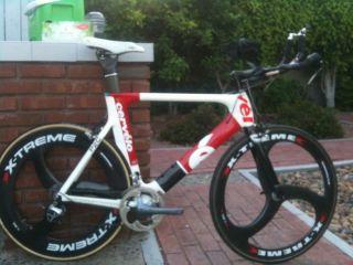 Cervelo P2C 58cm TT Tri Bike with Best Race Wheels Dura Ace