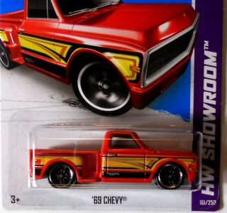 Hot Wheels 2013 HW Showroom 69 Chevy Red F Cases