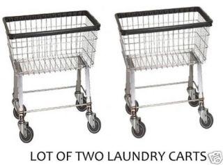 Economy Laundry Cart 2 5 Bushel with Wheels Basket