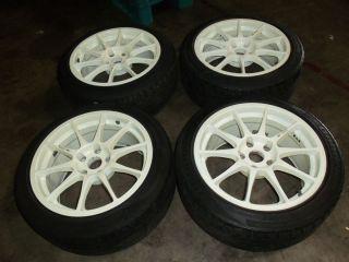 Nissan 240SX JDM Enkei Ralli Art 5x114 Wheels 17 Inch Rims Wheel Rim