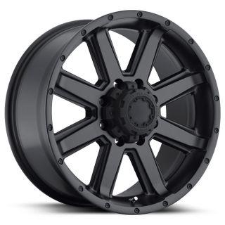 195 CRUSHER 17X9 BLACK TRUCK WHEEL 17 FORD F250 8X170 SATIN BLACK RIM