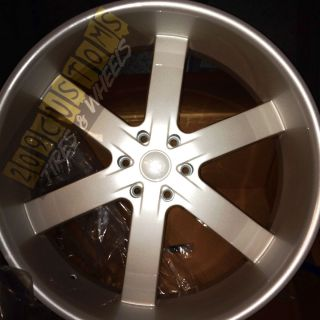 24 x10 inch Rims Wheels Tires U2W55 6x139 7 Pearl White Cadillac
