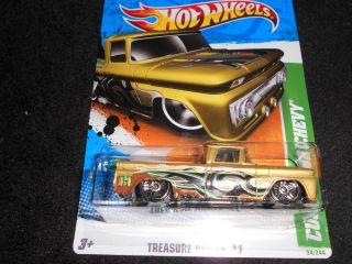 2011 Hot Wheels Treasure Hunt Custom 62 Chevy regular Super Deal 2012