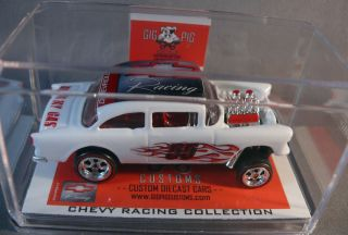 55 Chevrolet Gasser Racing Hot Wheels GigPig Customs Chevy Bel Air