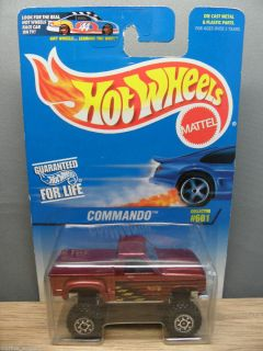 1997 Hot Wheels 1 64 Basic Commando Chevy Truck 601 Dark Red Orct CH