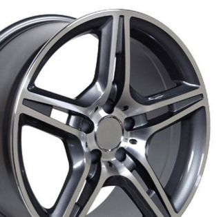 17 Rims Fit Mercedes AMG Wheels Gunmetal Set