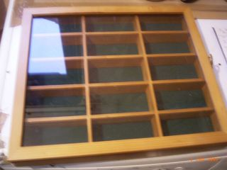 64 Glass fronted display case for 15 cars Matchbox Corgi Hot Wheels
