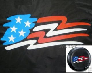 Spare Tire Cover 8 10 Rim American Flag Only for Trailer