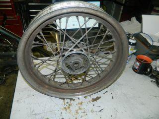 57 Harley Star Hub Wheel Flathead UL Knucklehead Panhead Hub Rusty Rim