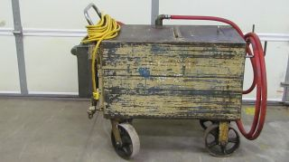 65 Gal Oil Transfer Distribution Tank Cart 120volt 1 phase Pump 10