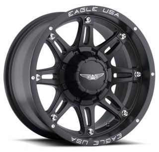 American Eagle style 027 wheels rims, 20x9, 5x5.5 & 5x5, matte black