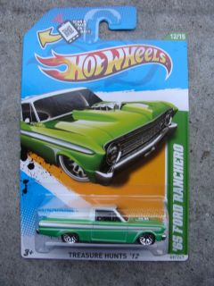 2012 Hot Wheels Treasure Hunt Custom 65 Ford Ranchero Green