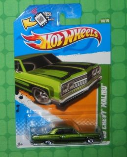 2012 Hot Wheels Treasure Hunt 10 65 Chevy Mailbu