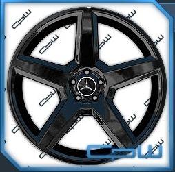 Mercedes Benz 22 Wheels Rims S550 s CL550 CL 63 65 Black AMG Syle