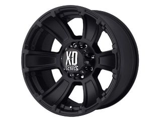 17x9 KMC XD796 Revolver Black Wheels Rims 8 Lug Ford Super Duty HD