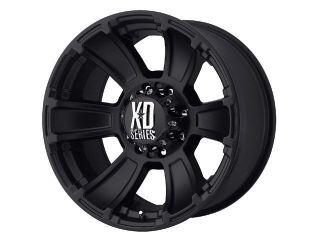 17x9 KMC XD796 Revolver Black Wheels Rims 8 Lug Ford Super Duty HD