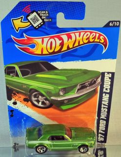 Hot Wheels 67 Ford Mustang Coupe 2012 Muscle Mania Ford Green