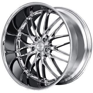 MRR GT1 22x9 0 5x120 20 Hyper Silver Chrome Rims Wheels