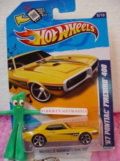 CASE N P 2012 Hot Wheels 67 PONTIAC FIREBIRD 400 1967 105 Scan ORANGE
