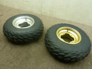 1999 99 Yamaha Warrior 350 Front Wheels Rims Tires