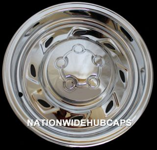 Chrome Wheel Skins Hub Caps Rim Covers 8SLOT 5 Lug Steel Wheels