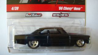 Hot Wheels Garage 66 Chevy Nova Black in Hand