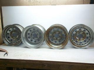 70 81 CAMARO FIREBIRD SLOTED RIMS WHEELS 15 X 10 15 X 7 SET OF 4 S10