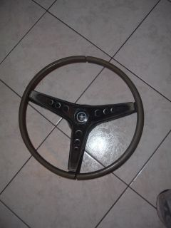 68 69 70 MUSTANG MACH 1 RIM BLOW STEERING WHEEL, BLACK TEAK GOOD FOR A