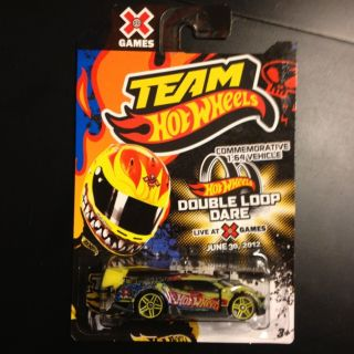 2012 TEAM HOT WHEELS COMMEMORATIVE 1 64 X GAMES DOUBLE LOOP DARE