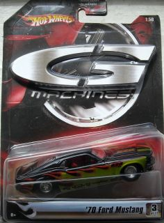 Hot Wheels G Machines 70 Ford Mustang 3OF 11 1 50 Scale New in Package
