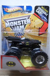 2013 Hot Wheels 1 64 Monster Jam Batman Monster Truck w Crushable Car