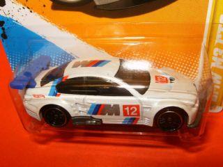 2012 Hot Wheels 1 64 BMW M3 GT2 E92 V8 Race Car White Black Wheels 5