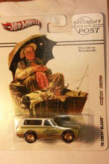 Hot Wheels 2012 Nostalgia Saturday Evening Post 70 Chevy Blazer Green