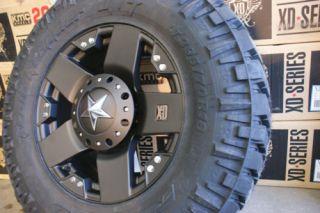 20 Wheels Rims XD Rockstar Black 295 65R20 Nitto Trail Grappler MT