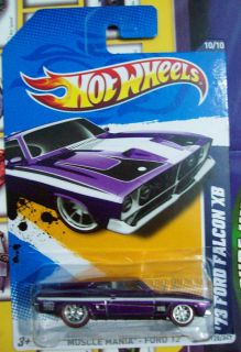 HOT WHEELS SUPER SECRET TREASURE HUNT 73 FORD FALCON XB ON LONG CARD