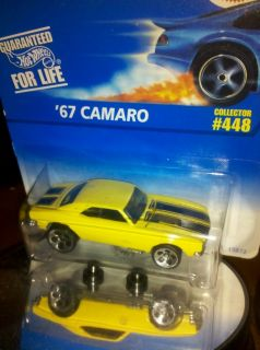 HOT WHEELS CHEVY 67 CAMARO BLUE CARD 448 HUNT LIMITED CLASSIC HO5