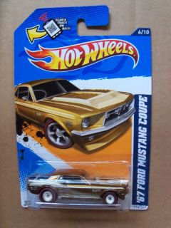 Hot Wheels Super Treasure Hunt 67 Ford Mustang Coupe Great Card LQQK