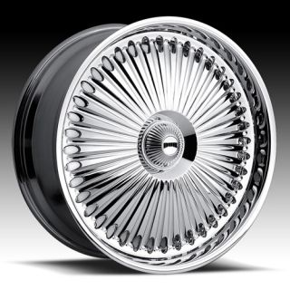 Bellagio Wheel Set 24x9 Chrome Rims for rwd 5 6 Lug Vehicles