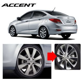 2011 2012 Accent Carbon Wheels Mask Decal Sticker 16inches No 14 Car