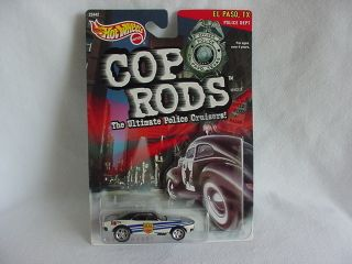 MATTEL HOT WHEELS 1999 1967 67 CHEVY CAMARO EL PASO TX COP RODS SERIES