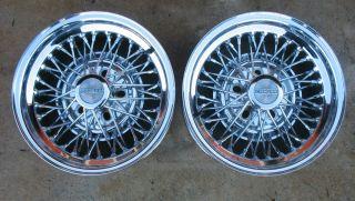 Vintage Pair 70s Cragar 15x7 Chrome Star Wire Wheels Ford GM Mopar