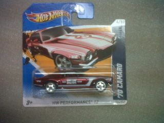 Hot Wheels 2012 Super Treasure Hunt Secret Camaro 70 Short Card Mint