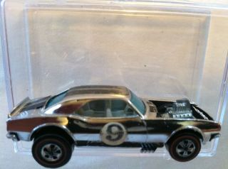 ORIGINAL HOT WHEELS REDLINE 1969 HEAVY CHEVY CHROME RL CLUB CAR M. O