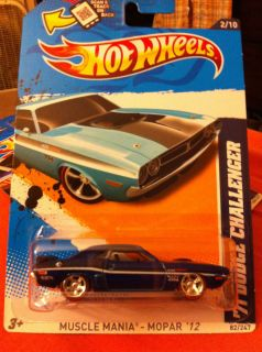 Hot Wheels 2012 71 Dodge Challenger Super Treasure Hunt Error Must