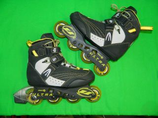 Ultra Wheels BIOFIT SQ4 Inline Skates Rollerblades Mens Size 9 ABEC 3